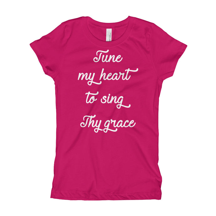 Tune My Heart Girl's T-Shirt-T-Shirt-PureDesignTees