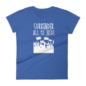 Surrender All to Jesus Women's short sleeve t-shirt-T-Shirt-PureDesignTees