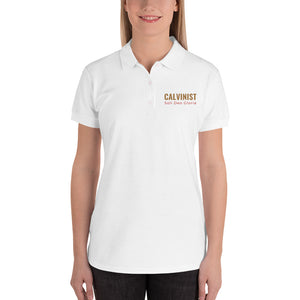 Calvinist Soli Deo Gloria Embroidered Women's Polo Shirt-PureDesignTees