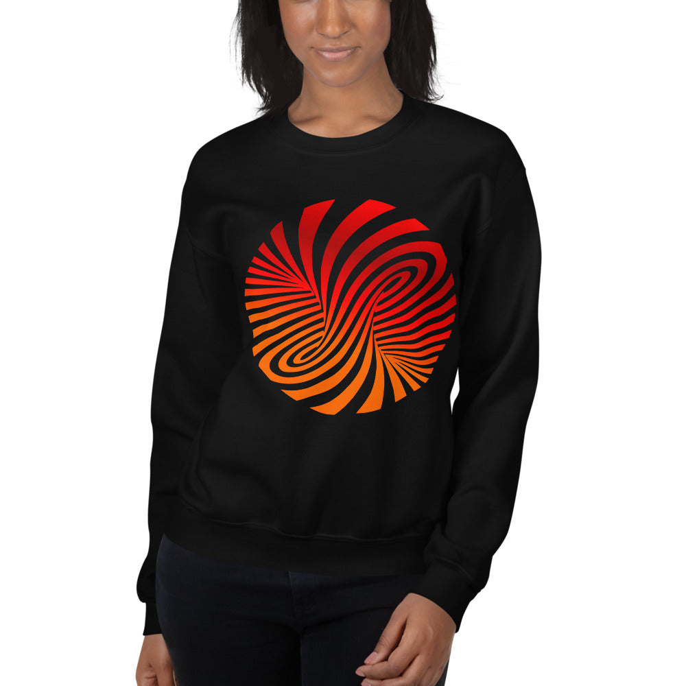 Vortex Optical Illusion Unisex Sweatshirt-Sweatshirt-PureDesignTees