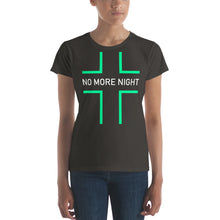 Load image into Gallery viewer, No More Night Women's short sleeve t-shirt, t-shirt - PureDesignTees