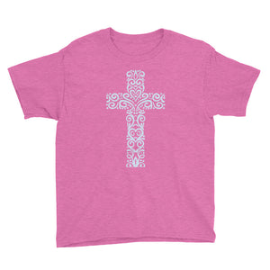 Decorative Cross Youth Short Sleeve T-Shirt-T-Shirt-PureDesignTees