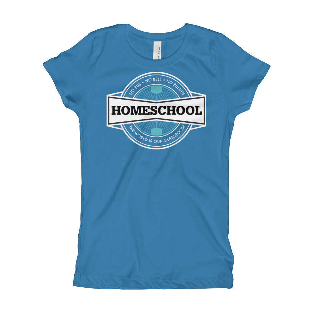 Homeschool Badge Girl's T-Shirt, T-Shirt - PureDesignTees