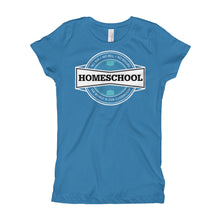 Load image into Gallery viewer, Homeschool Badge Girl's T-Shirt, T-Shirt - PureDesignTees
