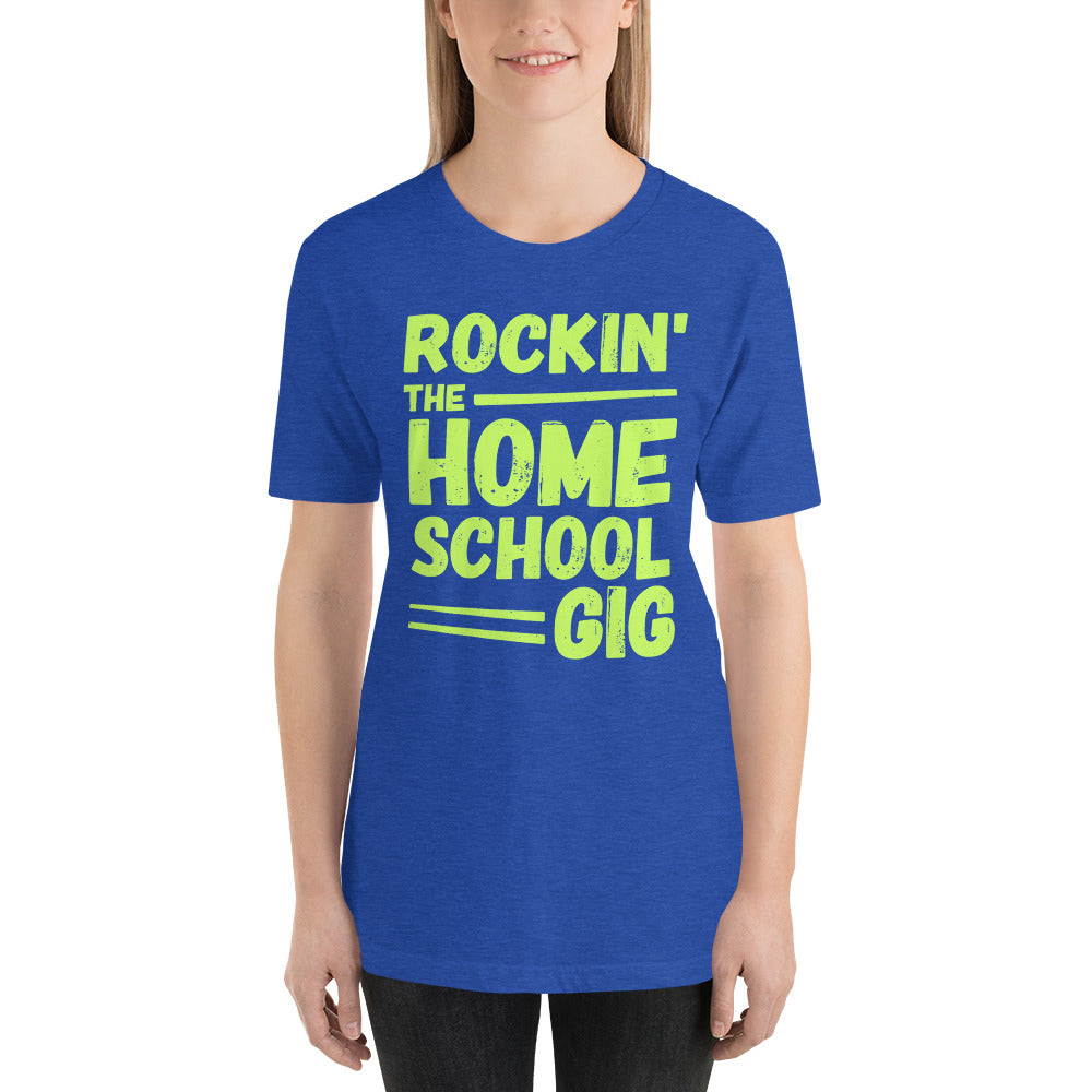 Rockin' the Homeschool Gig Short-Sleeve Unisex T-Shirt, t-shirt - PureDesignTees