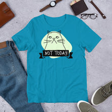 Load image into Gallery viewer, Not Today Grumpy Cat Short-Sleeve Unisex T-Shirt-T-Shirt-PureDesignTees