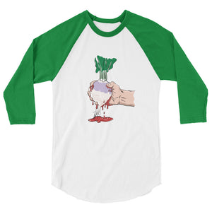 Squeezing Blood from a Turnip 3/4 sleeve raglan shirt-T-Shirt-PureDesignTees