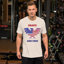 Load image into Gallery viewer, Brave and Free American Eagle Short-Sleeve Unisex T-Shirt-t-shirt-PureDesignTees