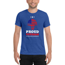 Load image into Gallery viewer, Proud Veteran Short Sleeve Tri-blend T-shirt-tri-blend t-shirt-PureDesignTees