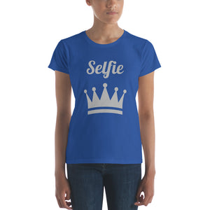 Selfie Crown Women's short sleeve t-shirt-t-shirt-PureDesignTees
