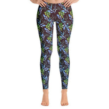 Load image into Gallery viewer, Beautiful Watercolor Plants Leggings-leggings-PureDesignTees