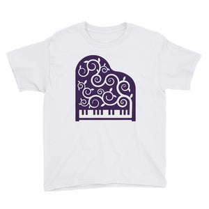 Piano Student Youth Short Sleeve T-Shirt-youth t-shirt-PureDesignTees