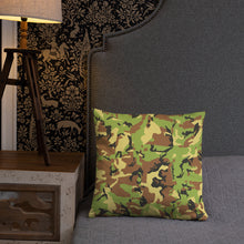 Load image into Gallery viewer, Green Camo Basic Pillow-Throw Pillow-PureDesignTees