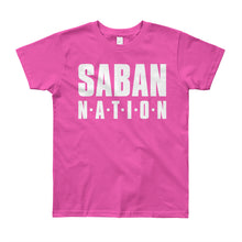 Load image into Gallery viewer, Saban Nation Youth Short Sleeve T-Shirt-t-shirt-PureDesignTees