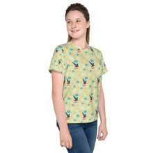 Load image into Gallery viewer, Free as a Bird Pattern Youth T-Shirt-youth all over print t-shirt-PureDesignTees