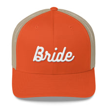 Load image into Gallery viewer, Bride Embroidered Trucker Cap-Hat-PureDesignTees