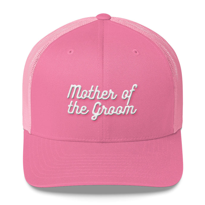 Mother of the Groom Trucker Cap-Hat-PureDesignTees
