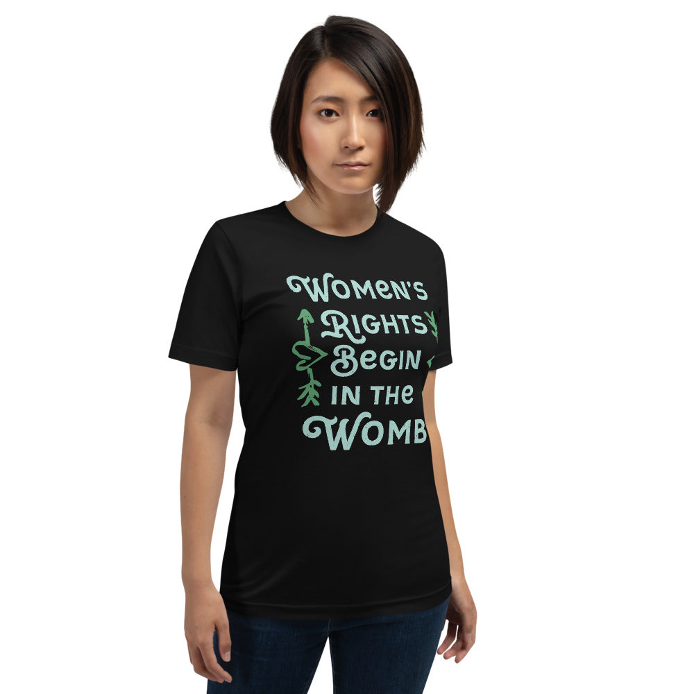 Women's Rights Begin in the Womb Short-Sleeve Unisex T-Shirt-T-Shirt-PureDesignTees