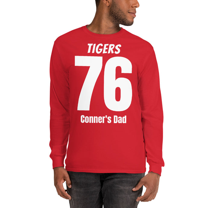 Personalized Team Number and Name Long Sleeve T-Shirt-Personalized long sleeve t-shirt-PureDesignTees