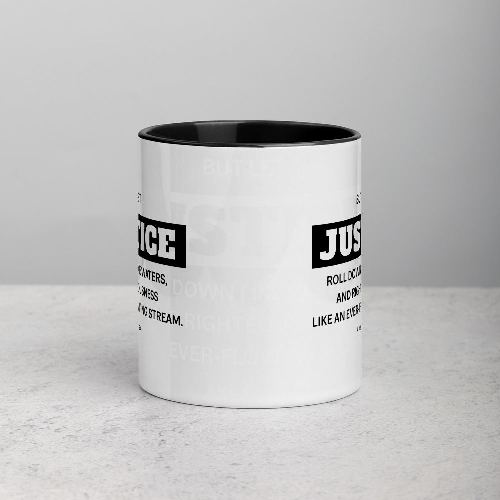 Let Justice Roll Down Mug with Color Inside-Mug-PureDesignTees