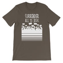 Load image into Gallery viewer, Surrender All to Jesus Unisex short sleeve t-shirt-T-Shirt-PureDesignTees
