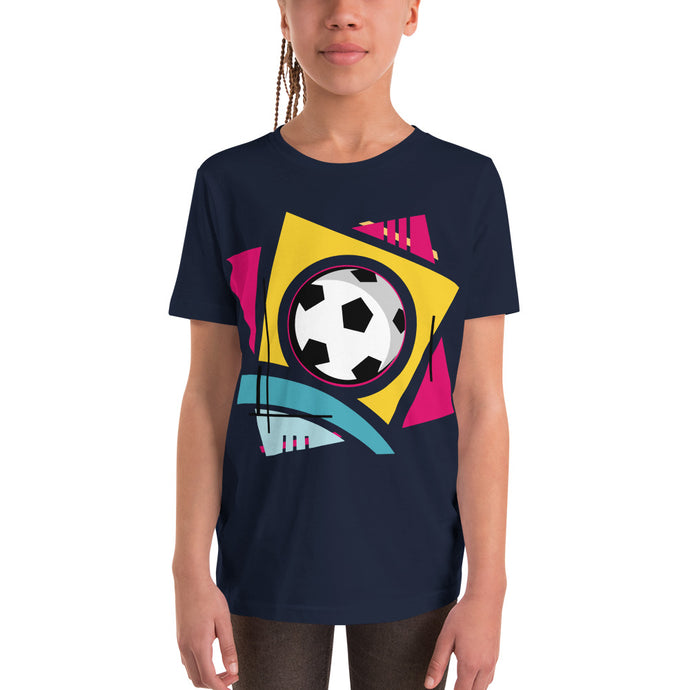 Colorful Soccer Youth Short Sleeve T-Shirt-Youth T-shirt-PureDesignTees