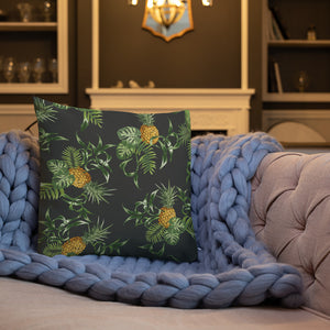 Pineapple Pattern Premium Pillow-Premium Throw Pillow-PureDesignTees