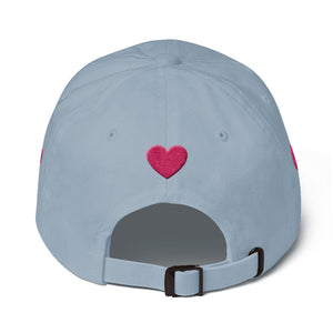 heart Dad hat for girls-Hat-PureDesignTees