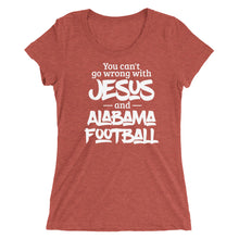 Load image into Gallery viewer, You Can't Go Wrong with Jesus and Alabama Ladies' short sleeve t-shirt-T-Shirt-PureDesignTees