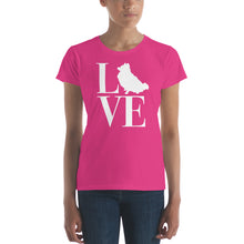 Load image into Gallery viewer, Love Pomeranian Women's short sleeve t-shirt-T-Shirt-PureDesignTees
