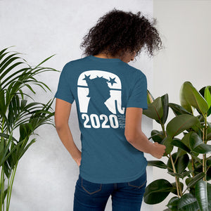 Trump 2020 Front Back and Sleeve Print Short-Sleeve Unisex T-Shirt