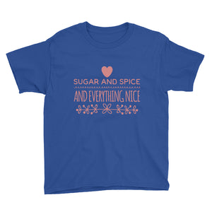 Sugar and Spice and Everything Nice Youth Short Sleeve T-Shirt-Youth T-shirt-PureDesignTees