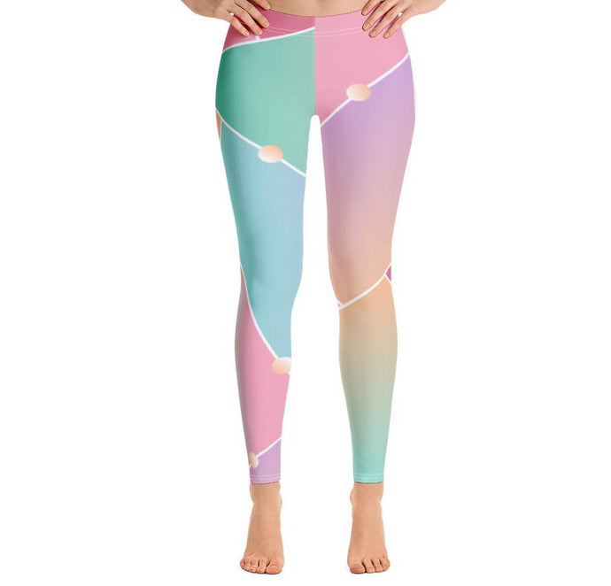 Abstract Glass Pattern Leggings-Leggings-PureDesignTees