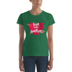 Love One Another Women's short sleeve t-shirt-T-Shirt-PureDesignTees
