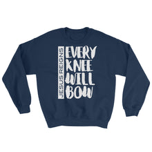 Load image into Gallery viewer, Jesus Reigns - Every Knee Will Bow Sweatshirt-Sweatshirt-PureDesignTees
