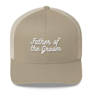 Father of the Groom Trucker Cap-Hat-PureDesignTees