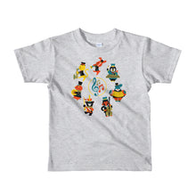 Load image into Gallery viewer, Musical Animals Short sleeve kids t-shirt-t-shirt-PureDesignTees