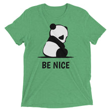 Load image into Gallery viewer, Super Cute Panda Be Nice Short sleeve Tri-blend t-shirt-T-Shirt-PureDesignTees