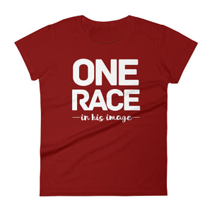 One Race in His Image Women's short sleeve t-shirt-PureDesignTees
