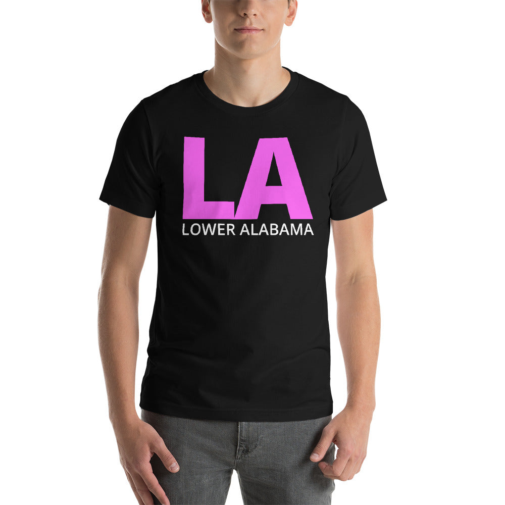 LA Lower Alabama Short-Sleeve Unisex T-Shirt-T-Shirt-PureDesignTees