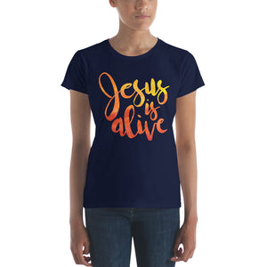Jesus is Alive Women's short sleeve t-shirt-T-Shirt-PureDesignTees