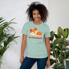 Load image into Gallery viewer, Sleeping Fox Do Not Disturb Short-Sleeve Unisex T-Shirt-T-shirt-PureDesignTees