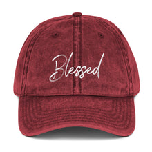 Load image into Gallery viewer, Blessed Vintage Cotton Twill Cap-cap-PureDesignTees