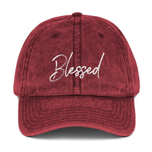 Blessed Vintage Cotton Twill Cap