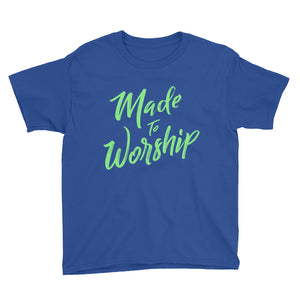 Made to Worship Youth Short Sleeve T-Shirt-t-shirt-PureDesignTees