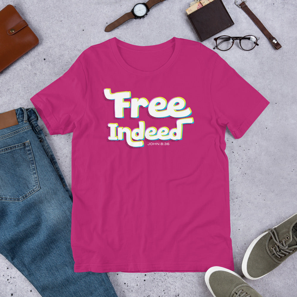 Free Indeed John 8:36 Short-Sleeve Unisex T-Shirt