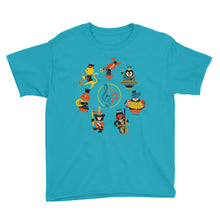 Load image into Gallery viewer, Musical Animals Youth Short Sleeve T-Shirt-t-shirt-PureDesignTees