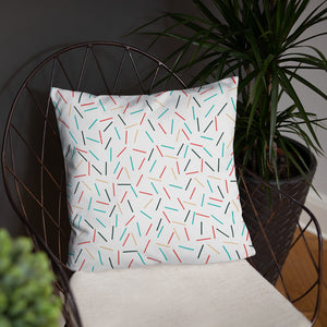 Colorful Sprinkles Basic Pillow, Throw Pillow - PureDesignTees