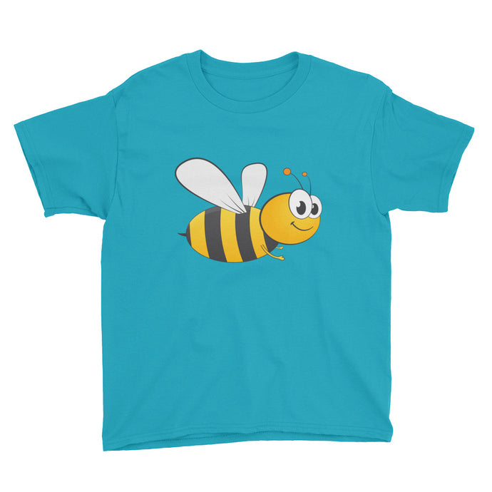 Honey Bee Youth Short Sleeve T-Shirt, t-shirt - PureDesignTees