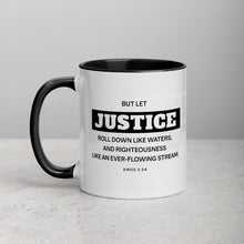 Load image into Gallery viewer, Let Justice Roll Down Mug with Color Inside-Mug-PureDesignTees